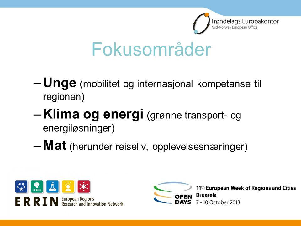 Trøndelags Europakontor Den norske EU- delegasjonen EFTA, FMO og ESA Andre regionskontor Andre norske aktører - Statnett, Statoil, Bellona, Norges delegasjon til NATO m.fl.