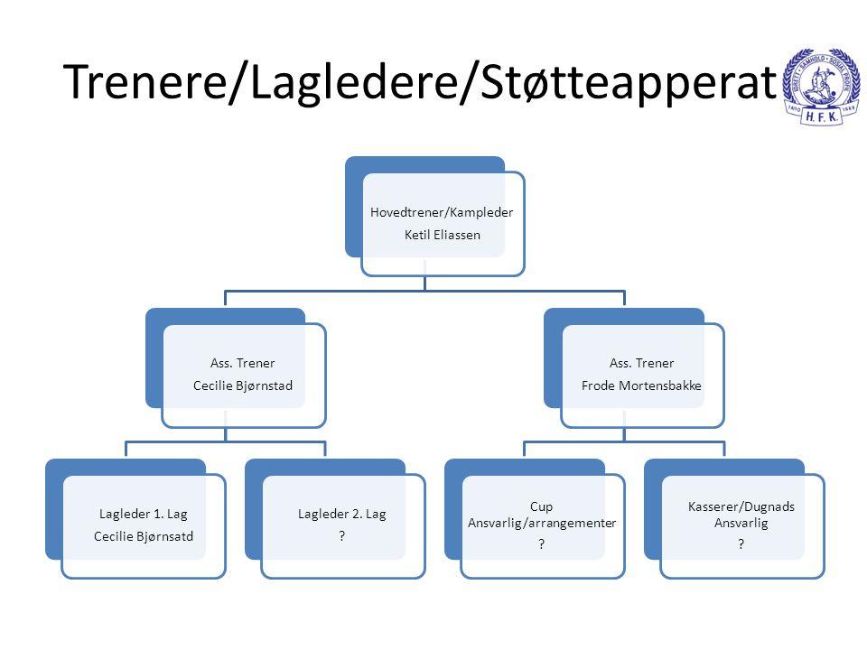 Trenere/Lagledere/Støtteapperat Hovedtrener/Kampleder Ketil Eliassen Ass.