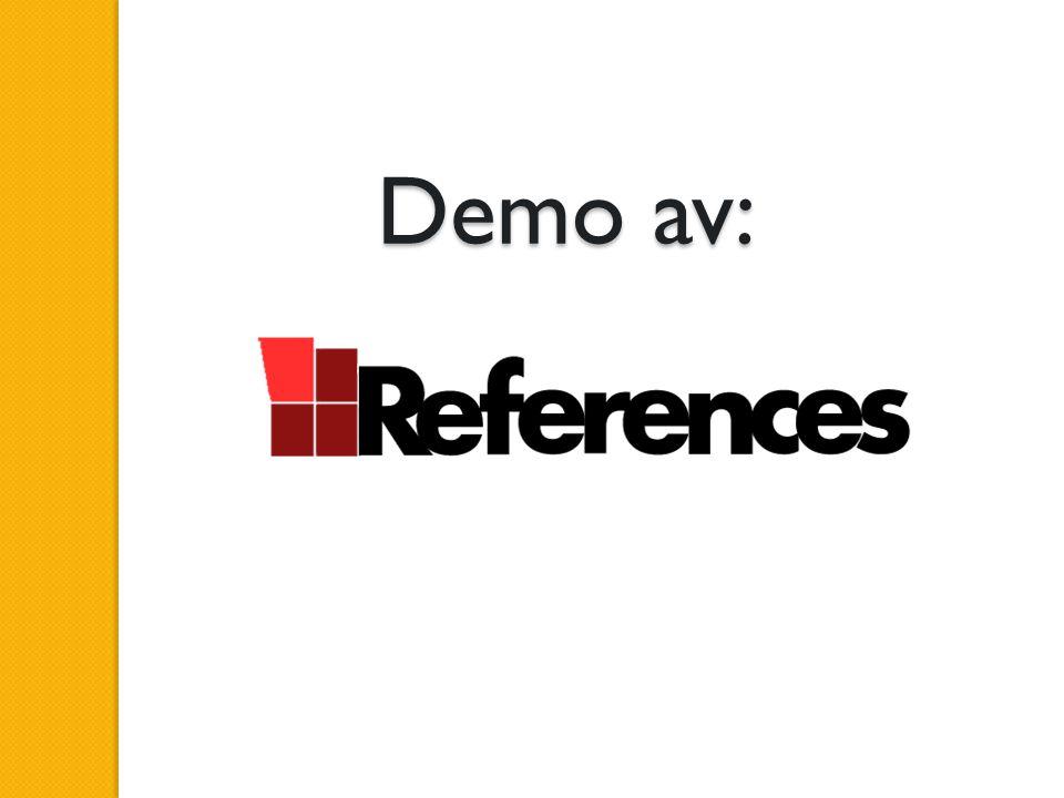 Demo av: