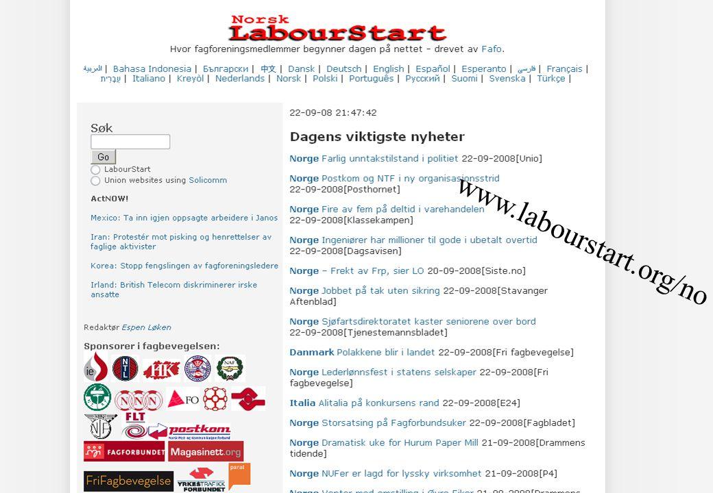 2 www.labourstart.org/no
