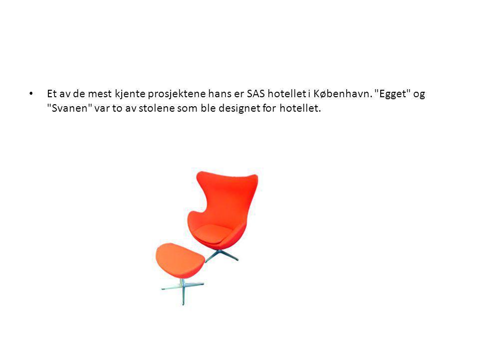 • Et av de mest kjente prosjektene hans er SAS hotellet i København.