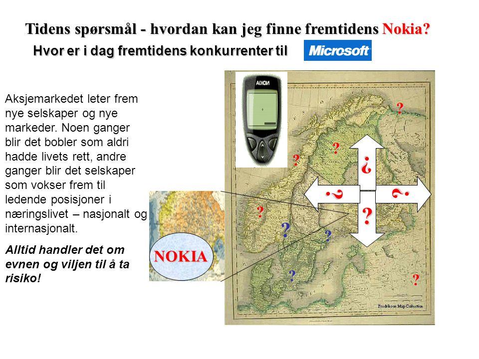 Norske husholdningers finansielle formue 30.06.2004 1 600 MRD 17 % andre plasseringer 35 % bankinnskudd 32 % ( 5 % aksjer) Pensjonsforsikring 12 % aks
