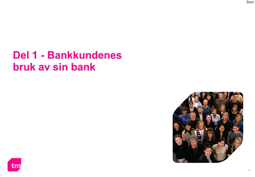 Del 1 - Bankkundenes bruk av sin bank
