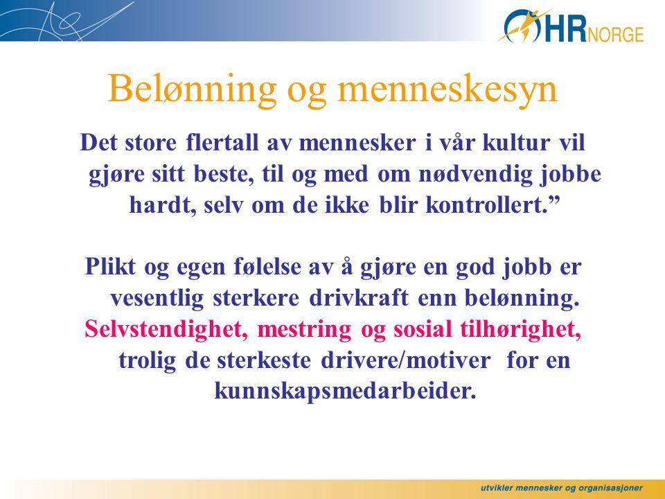 """Bård Kuvaas: """"Nivået på fastlønn er positivt relatert til indre Motivasjon."""" ( 634 ansatte i norsk konsern.)"""