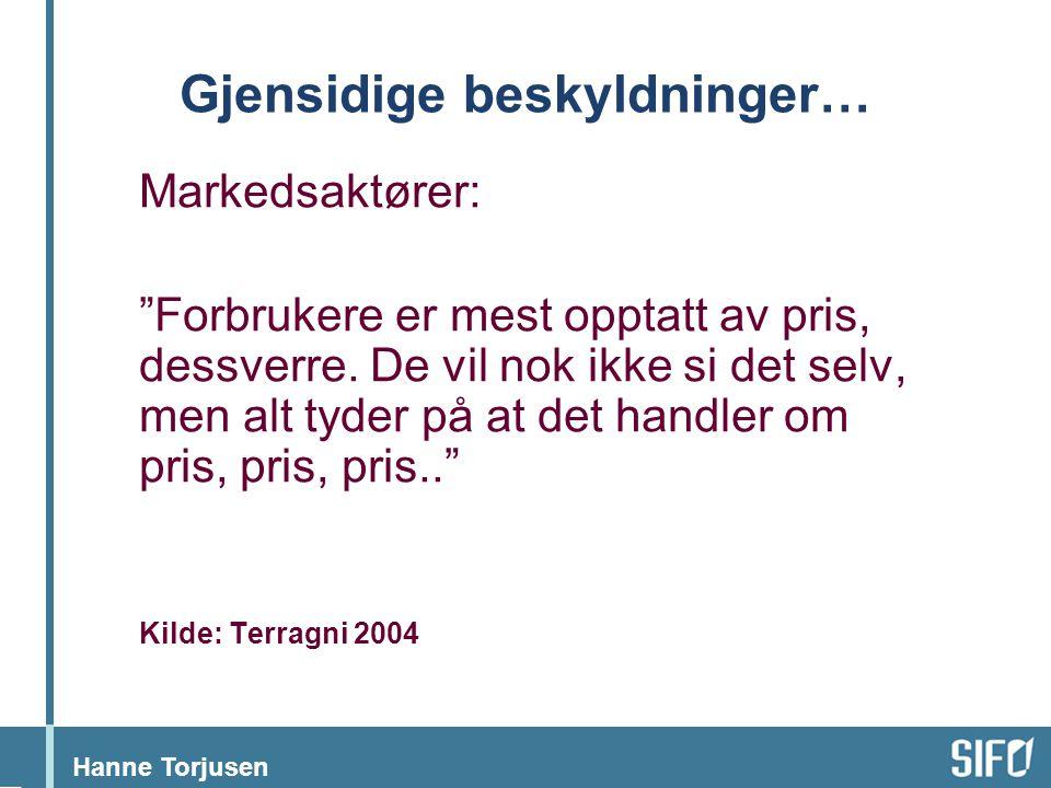 """Hanne Torjusen Gjensidige beskyldninger… Markedsaktører: """"Forbrukere er mest opptatt av pris, dessverre. De vil nok ikke si det selv, men alt tyder på"""