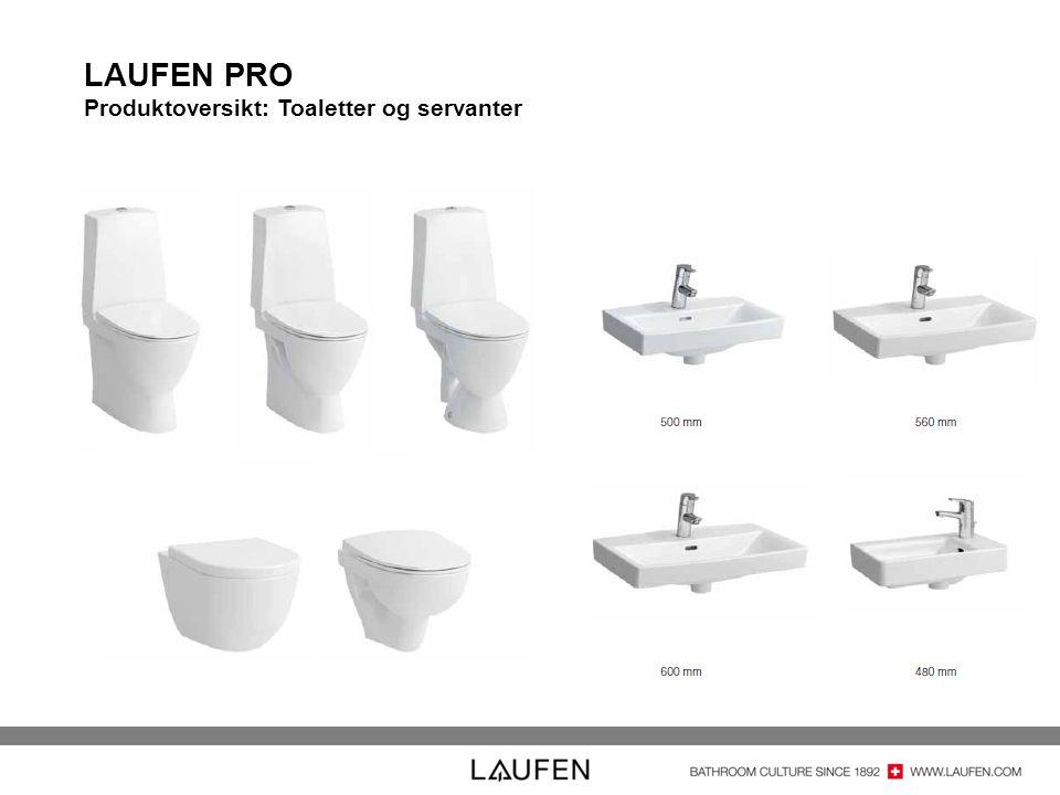 LAUFEN PRO Produktoversikt: Toaletter og servanter