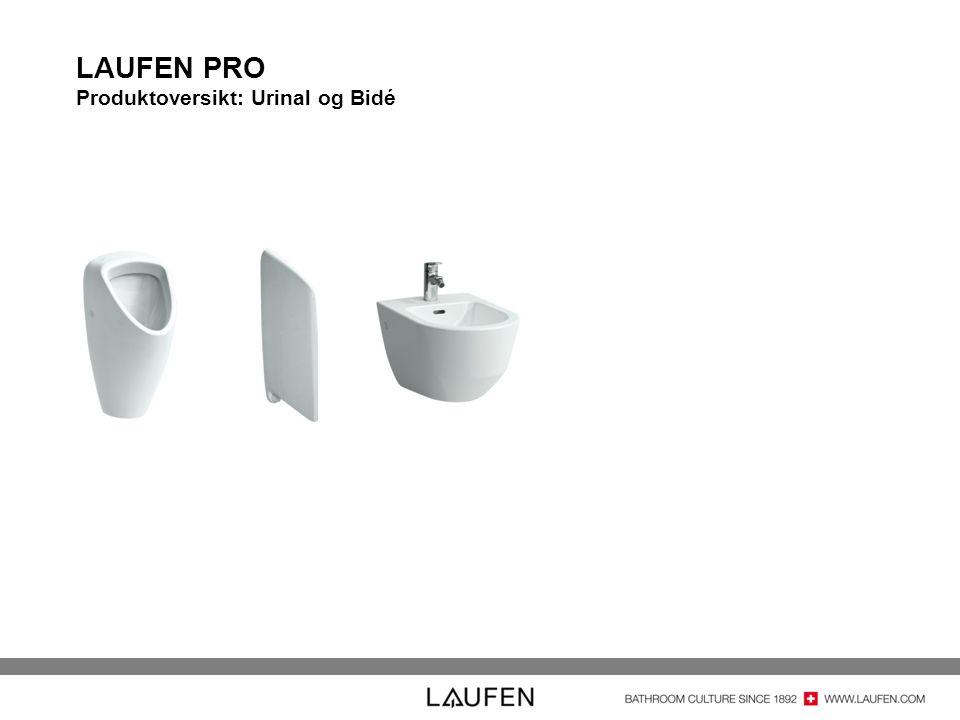LAUFEN PRO Produktoversikt: Urinal og Bidé