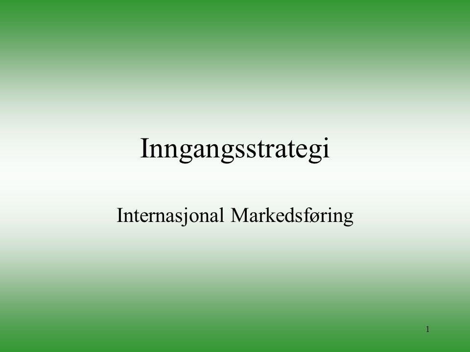 1 Inngangsstrategi Internasjonal Markedsføring