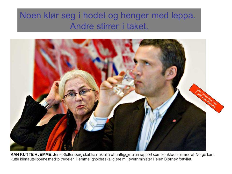KAN KUTTE HJEMME: Jens Stoltenberg skal ha nektet å offentliggjøre en rapport som konkluderer med at Norge kan kutte klimautslippene med to tredeler.