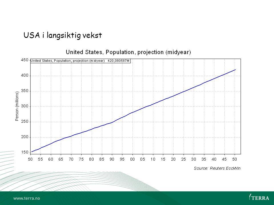 USA i langsiktig vekst