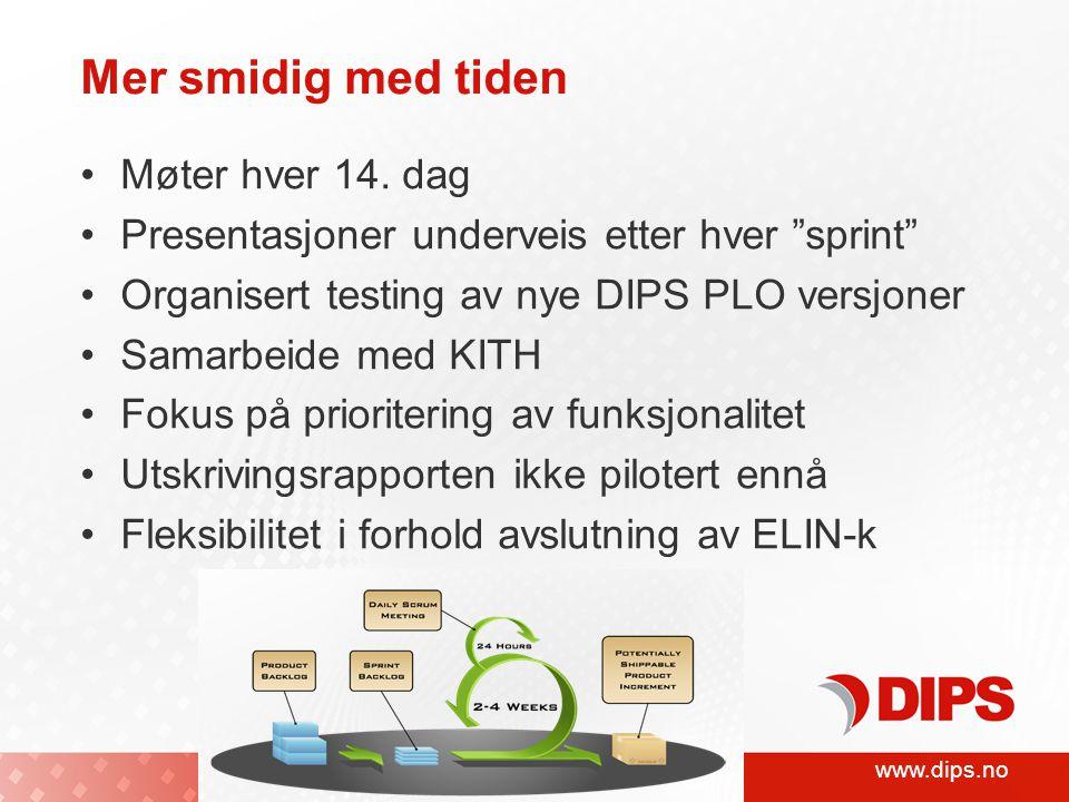 www.dips.no Mer smidig med tiden •Møter hver 14.
