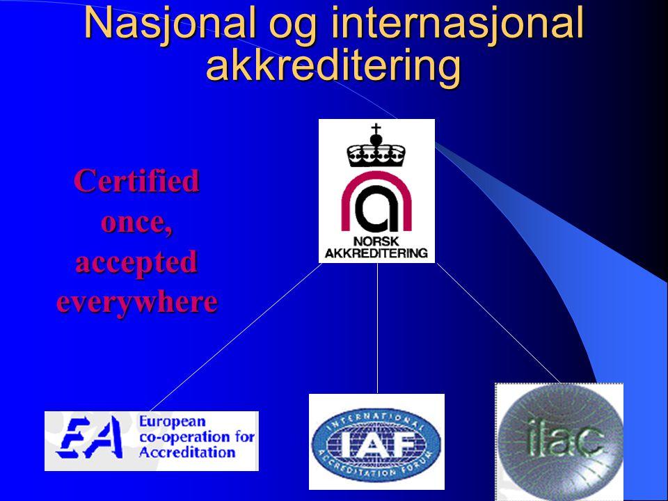 NAs MANDAT  Etablere og opprettholde et tilbud om teknisk akkreditering  Etablere og opprettholde et tilbud om GLP- inspeksjon  Informere om de akt