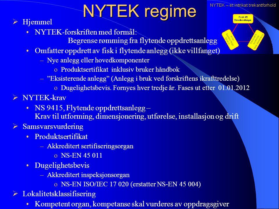 Akkrediterte produktsertifiseringsorgan NS-EN 45011 pr mars 2005 1.Aquastructures ASTrondheim 2.Norsk Sertifisering AS Lysaker 3.Sivilingeniør Finn St