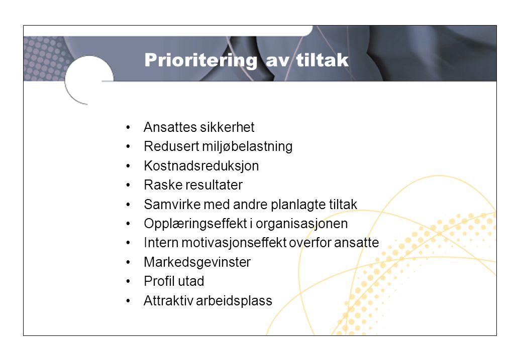 5 Mål og prioritering •Lage status over virksomhetens kjemikalier •Sammenstille opplysningene i stoffkartoteket med virksomhetens egne HMS-mål •Prioritere tiltak for forbedringer •Rydde opp i kjemikalielageret