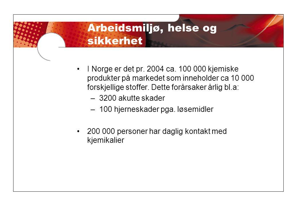 •HMS-datablad på norsk med alle de 16 pkt.