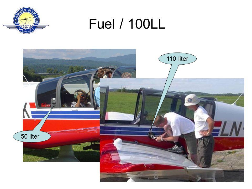 Fuel / 100LL 50 liter 110 liter