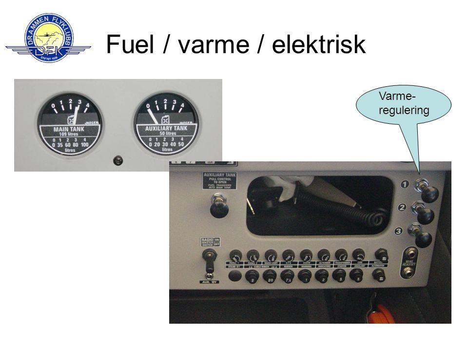 Fuel / varme / elektrisk Varme- regulering