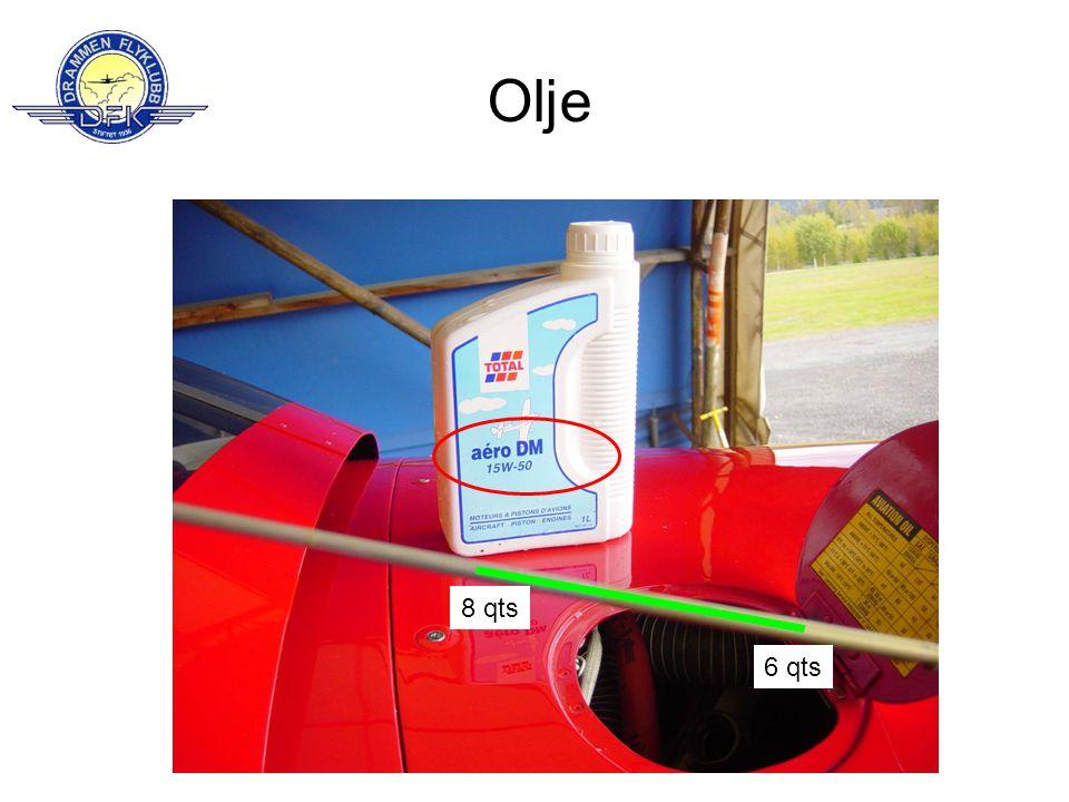 Olje 8 qts 6 qts