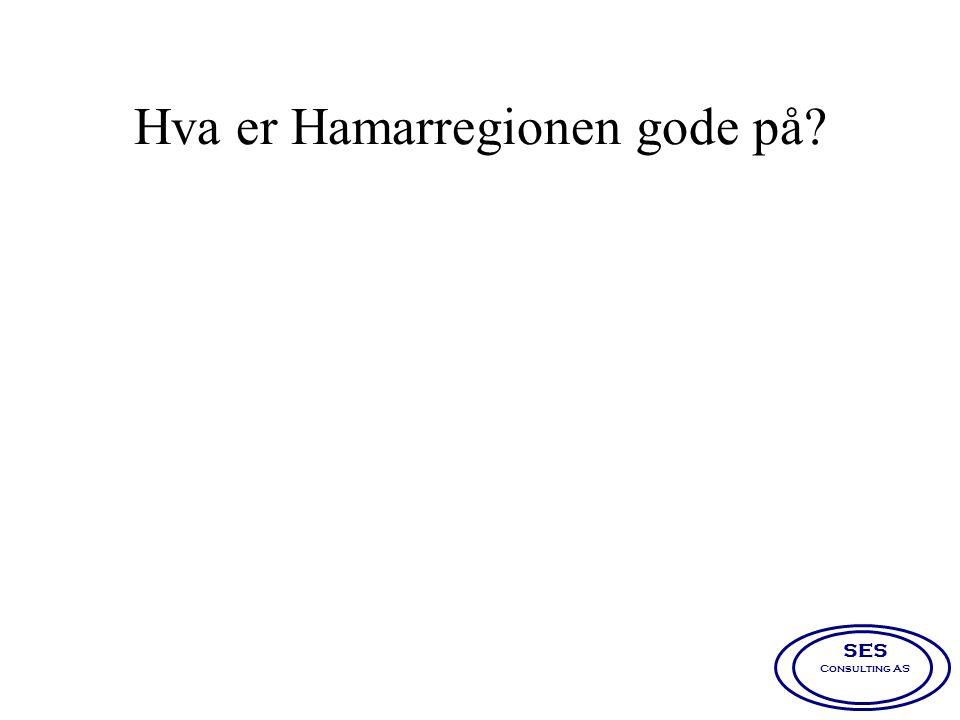 Hva er Hamarregionen gode på? SES Consulting AS