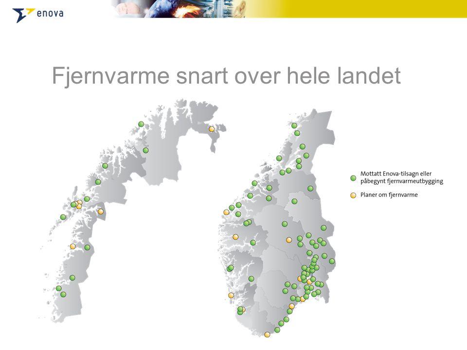 Fjernvarme snart over hele landet