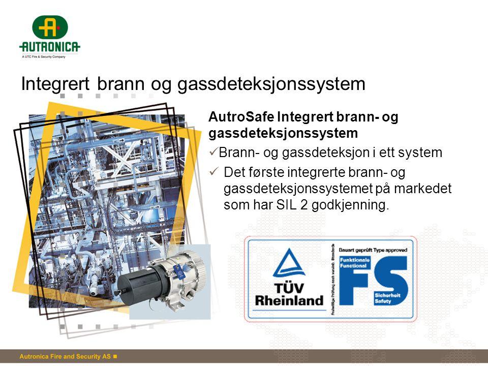 Integrert brann og gassdeteksjonssystem AutroSafe Integrert brann- og gassdeteksjonssystem  Brann- og gassdeteksjon i ett system  Det første integre