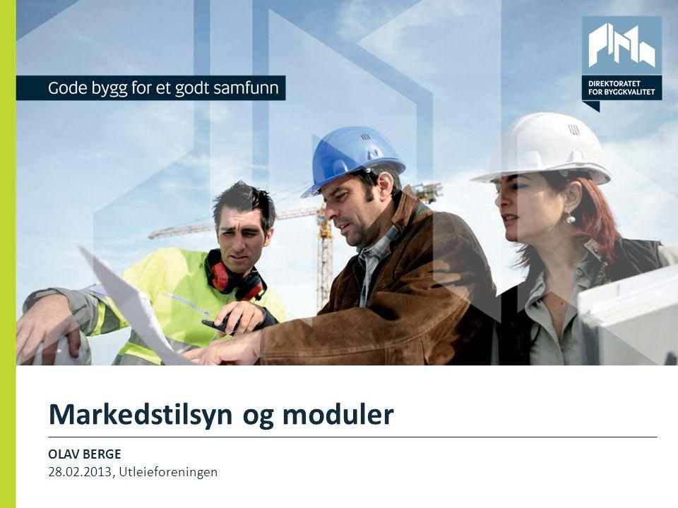 Markedstilsyn og moduler OLAV BERGE 28.02.2013, Utleieforeningen 1