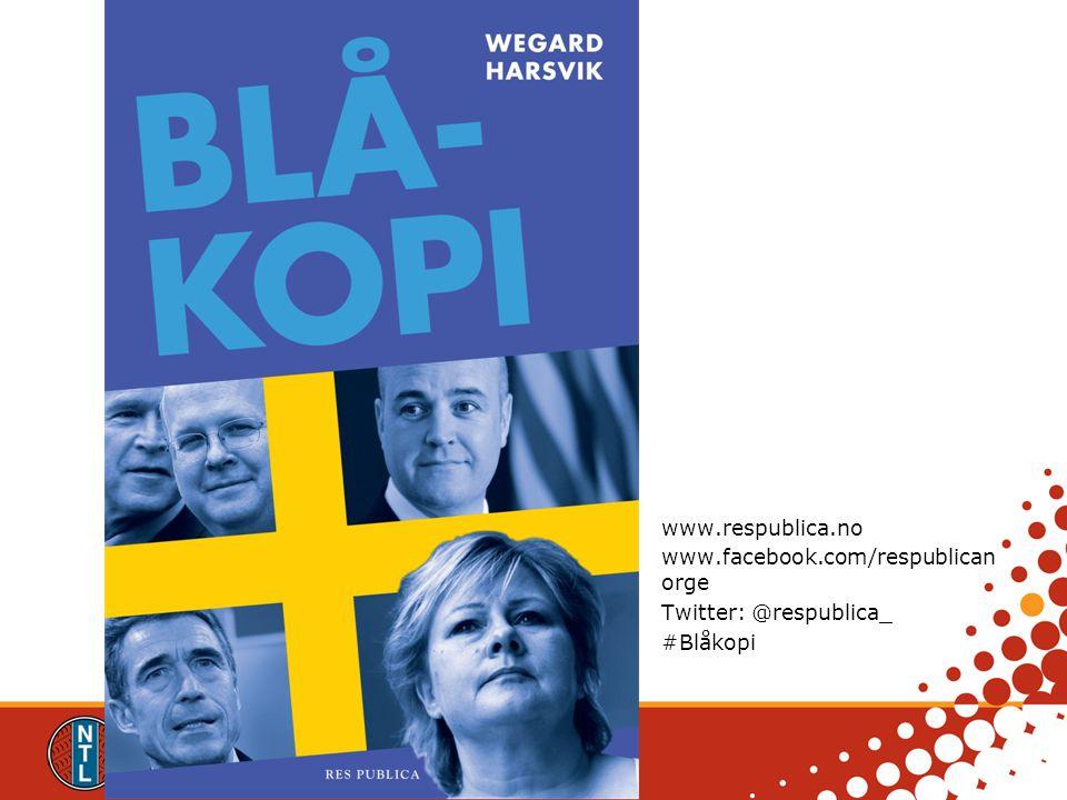 www.respublica.no www.facebook.com/respublican orge Twitter: @respublica_ #Blåkopi www.respublica.no