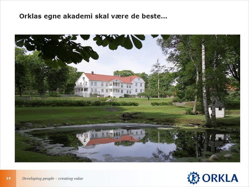 14 Orklas egne akademi skal være de beste…