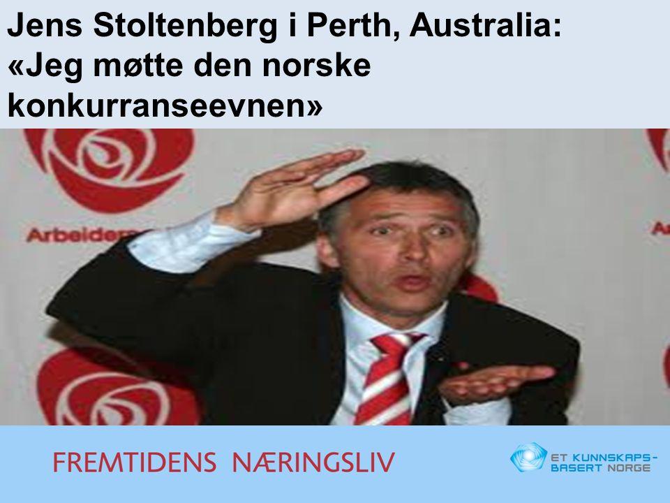 Jens Stoltenberg i Perth, Australia: «Jeg møtte den norske konkurranseevnen»