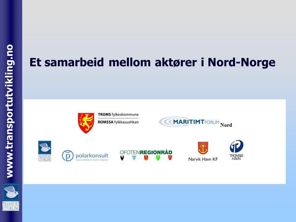 www.transportutvikling.no Et samarbeid mellom aktører i Nord-Norge