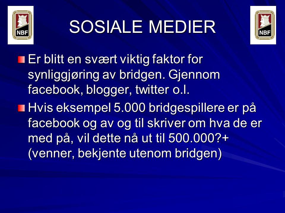 SOSIALE MEDIER Er blitt en svært viktig faktor for synliggjøring av bridgen.