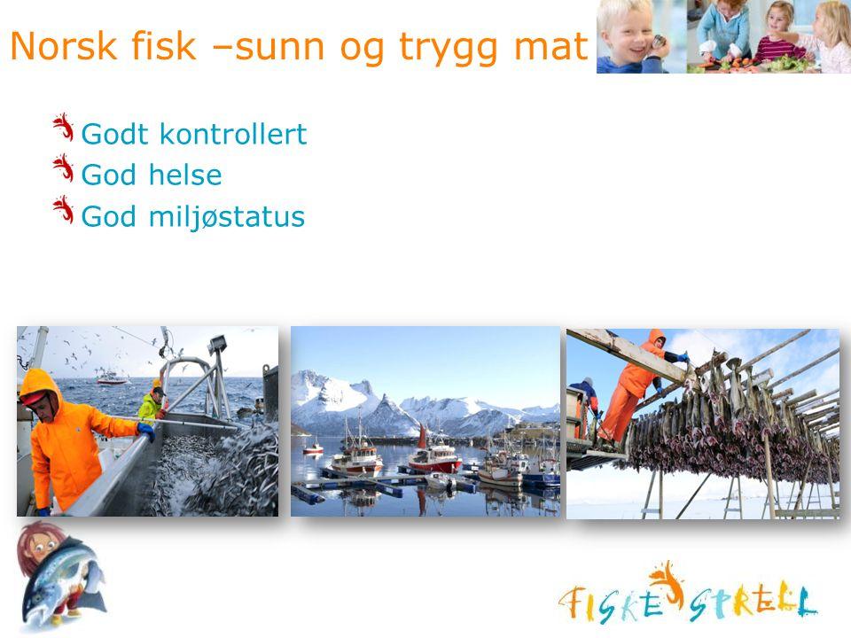 Norsk fisk –sunn og trygg mat Godt kontrollert God helse God miljøstatus