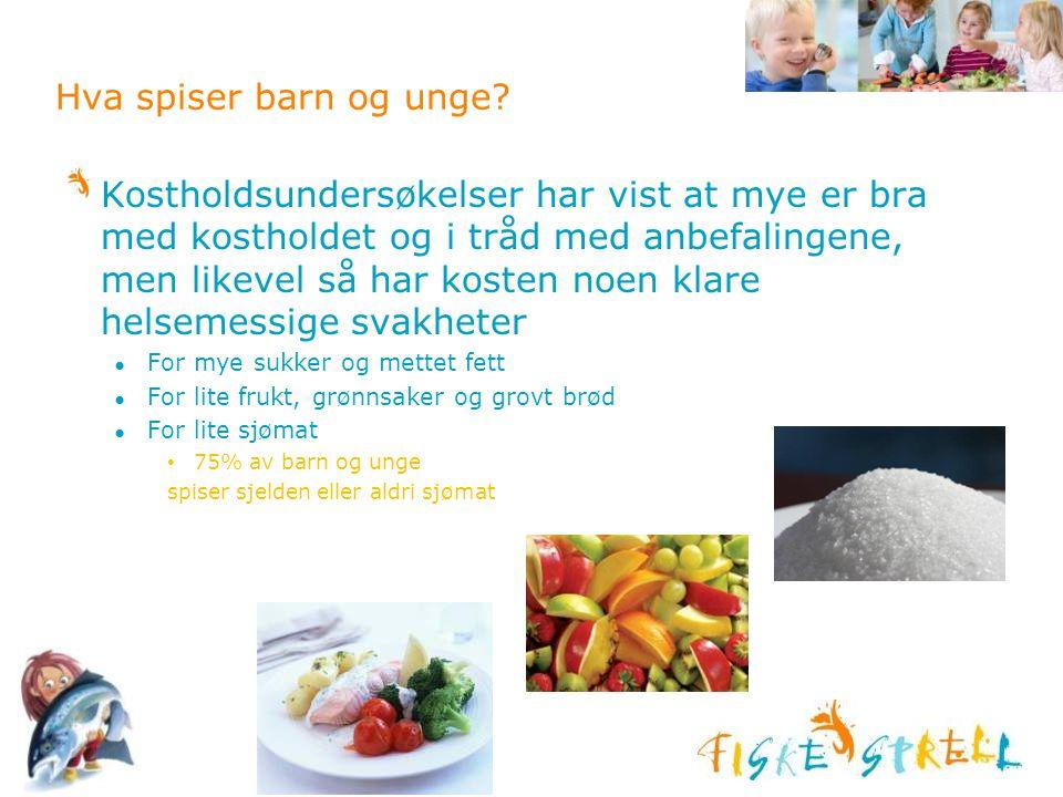 Hva spiser barn og unge? Kostholdsundersøkelser har vist at mye er bra med kostholdet og i tråd med anbefalingene, men likevel så har kosten noen klar
