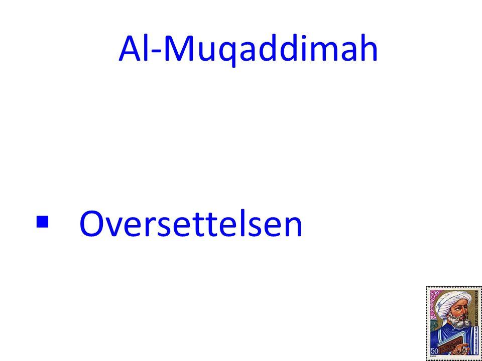 Oversettelsen Al-Muqaddimah 11