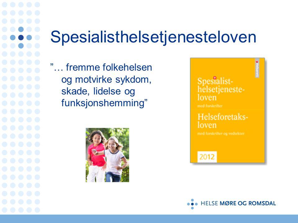"""Spesialisthelsetjenesteloven """"… fremme folkehelsen og motvirke sykdom, skade, lidelse og funksjonshemming"""""""