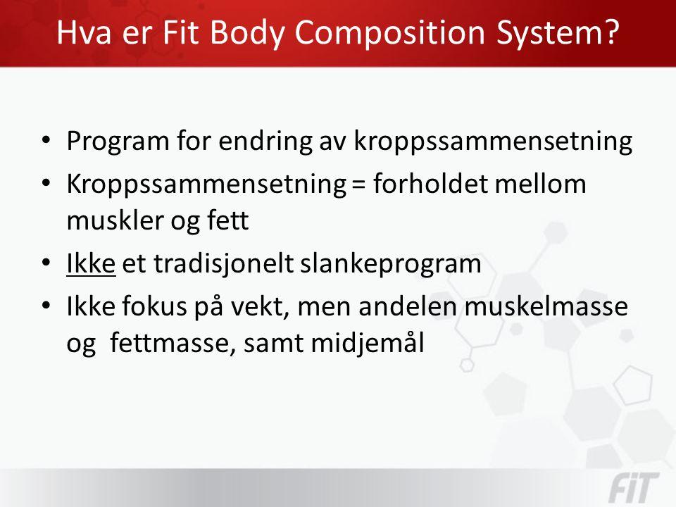 Hva er Fit Body Composition System.• Vekt sier ingenting.
