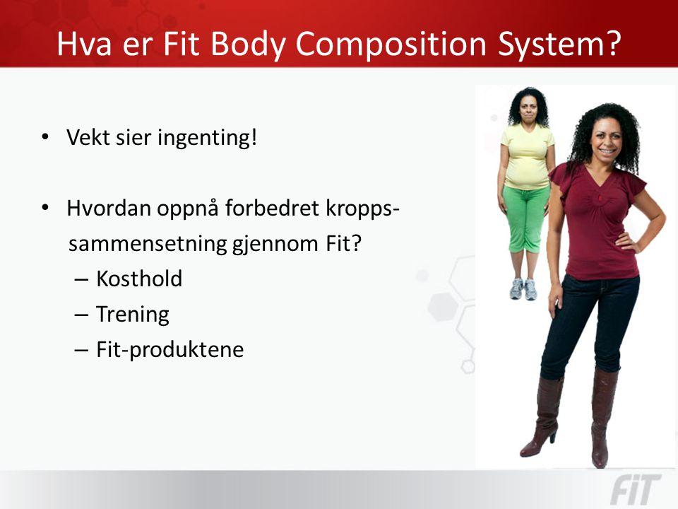 Hva er Fit Body Composition System. • Vekt sier ingenting.