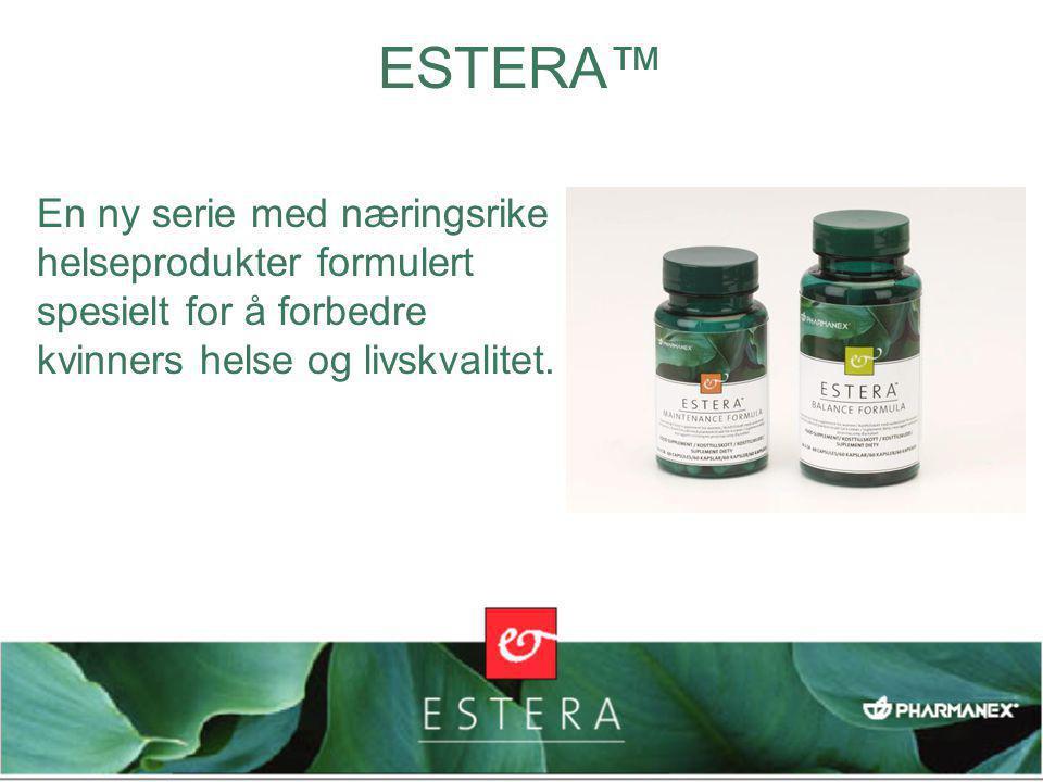 En ny serie med næringsrike helseprodukter formulert spesielt for å forbedre kvinners helse og livskvalitet. ESTERA™