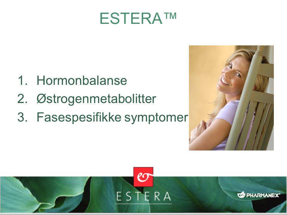 1.Hormonbalanse 2.Østrogenmetabolitter 3.Fasespesifikke symptomer
