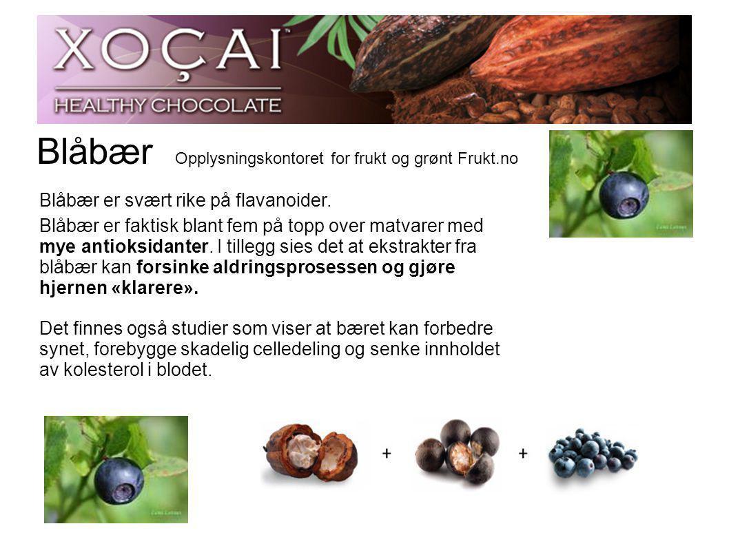 Blåbær Opplysningskontoret for frukt og grønt Frukt.no Blåbær er svært rike på flavanoider.