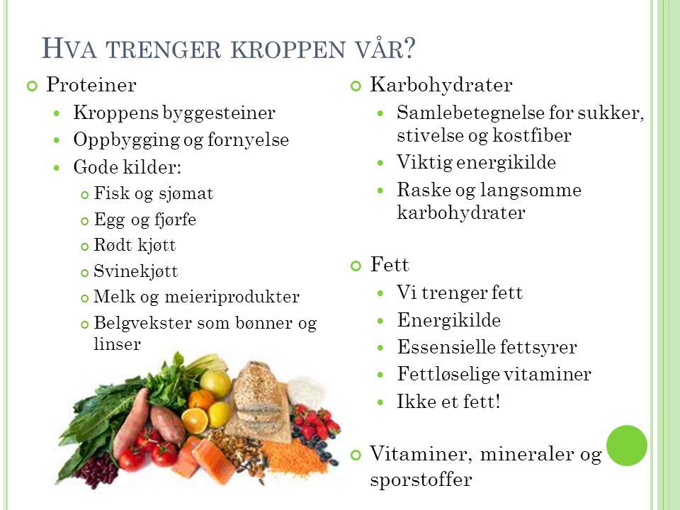 M AGERT KJØTT OG MAGRE KJØTTPRODUKTER Rødt kjøtt: Storfe, svin, lam/sau og geit Hvitt kjøtt: Kylling/høne og kalkun