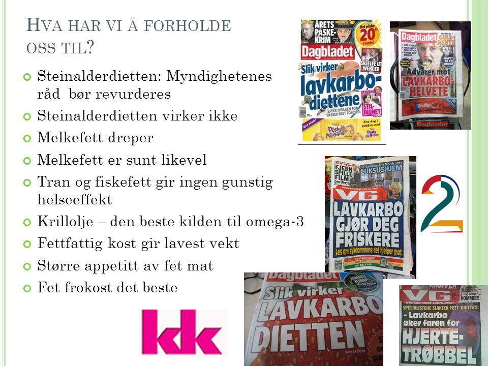 H VILKE UTFORDRINGER HAR VI MED NORSKE BARNS KOSTHOLD .