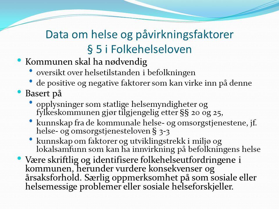 Samfunnsmedisinsk kompetanse § 27 i Folkehelseloven  Kommunen skal ha nødvendig samfunnsmedisinsk kompetanse for å ivareta oppgaver etter loven her.