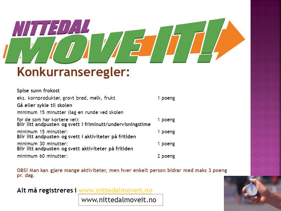 Hvorfor Move It:  BUK 2012 startet konkurransen fordi at det er viktig for helse og trivsel at alle beveger seg  BUK 2013 fortsetter med konkurransen.