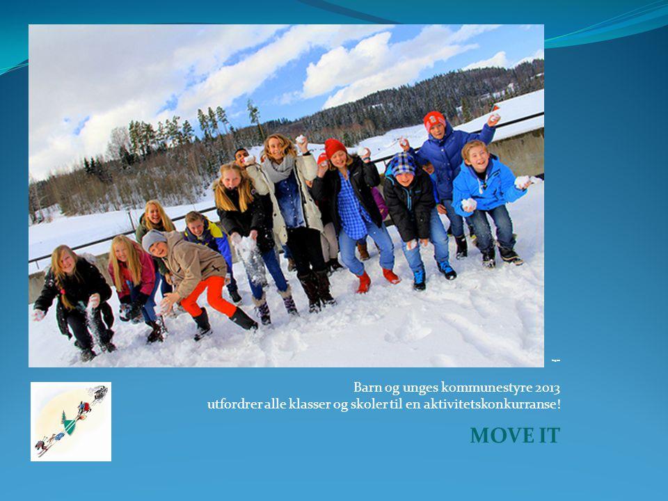 Foto: Geir Smith-Solvåg ingen Barn og unges kommunestyre 2013 utfordrer alle klasser og skoler til en aktivitetskonkurranse.