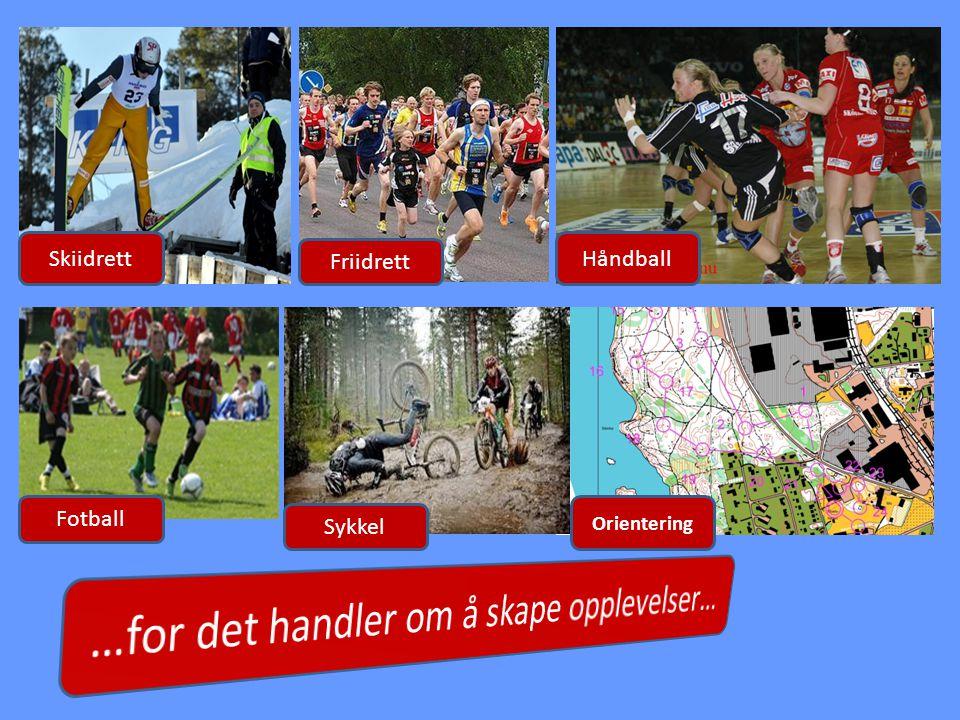 Friidrett HåndballSkiidrett Orientering Sykkel Fotball