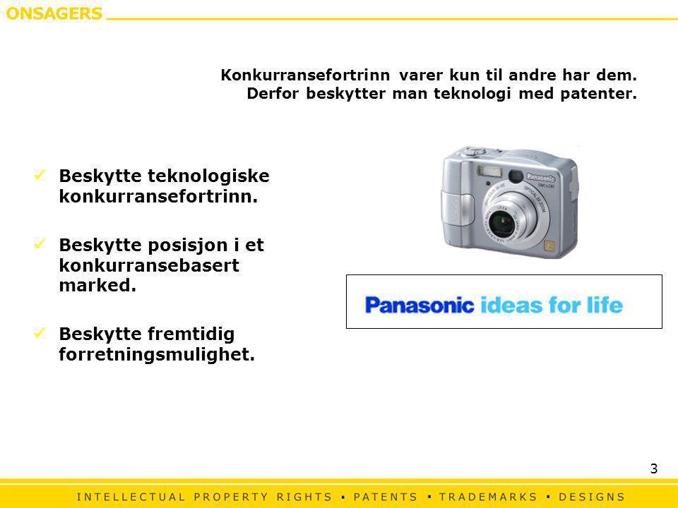 3 Konkurransefortrinn varer kun til andre har dem. Derfor beskytter man teknologi med patenter.  Beskytte teknologiske konkurransefortrinn.  Beskytt