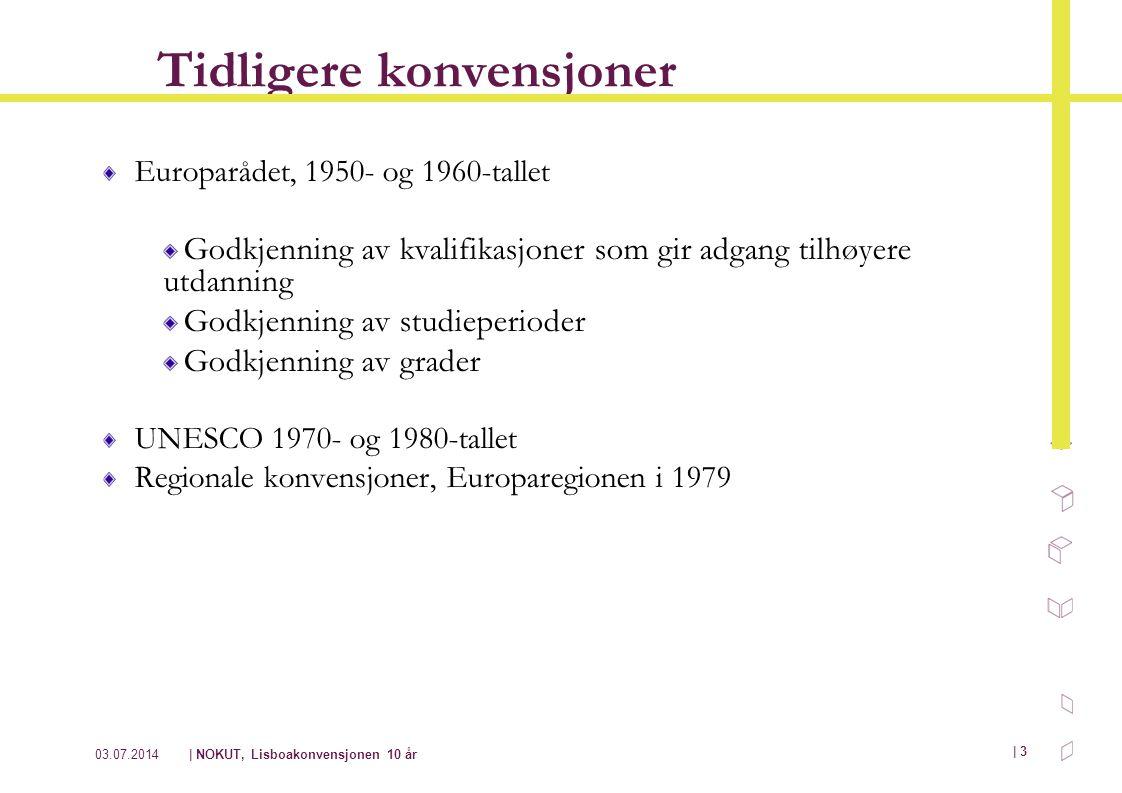 03.07.2014| NOKUT, Lisboakonvensjonen 10 år | 3 Tidligere konvensjoner Europarådet, 1950- og 1960-tallet Godkjenning av kvalifikasjoner som gir adgang