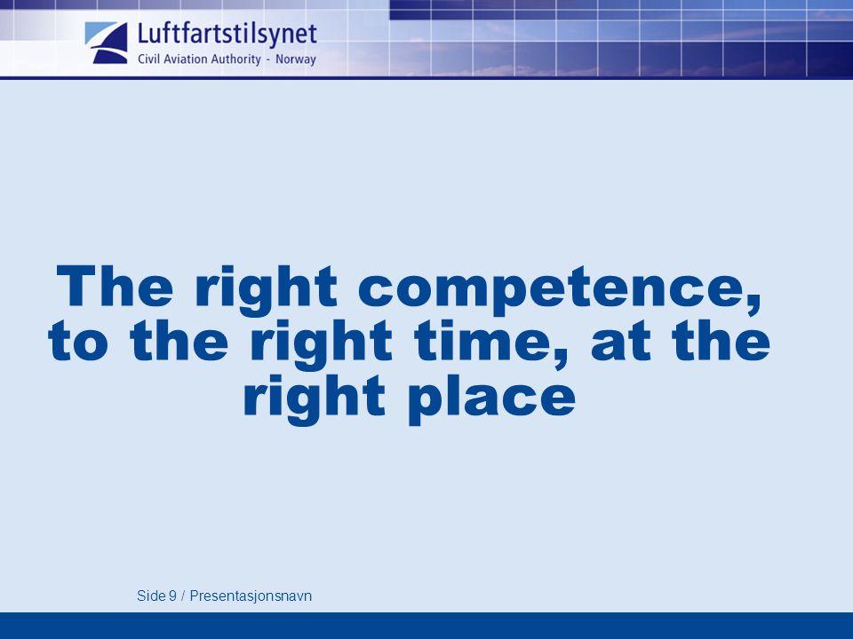 Side 40 / Presentasjonsnavn EASA for flyteknikere Part – 66 / 145 Tom Lauritzen