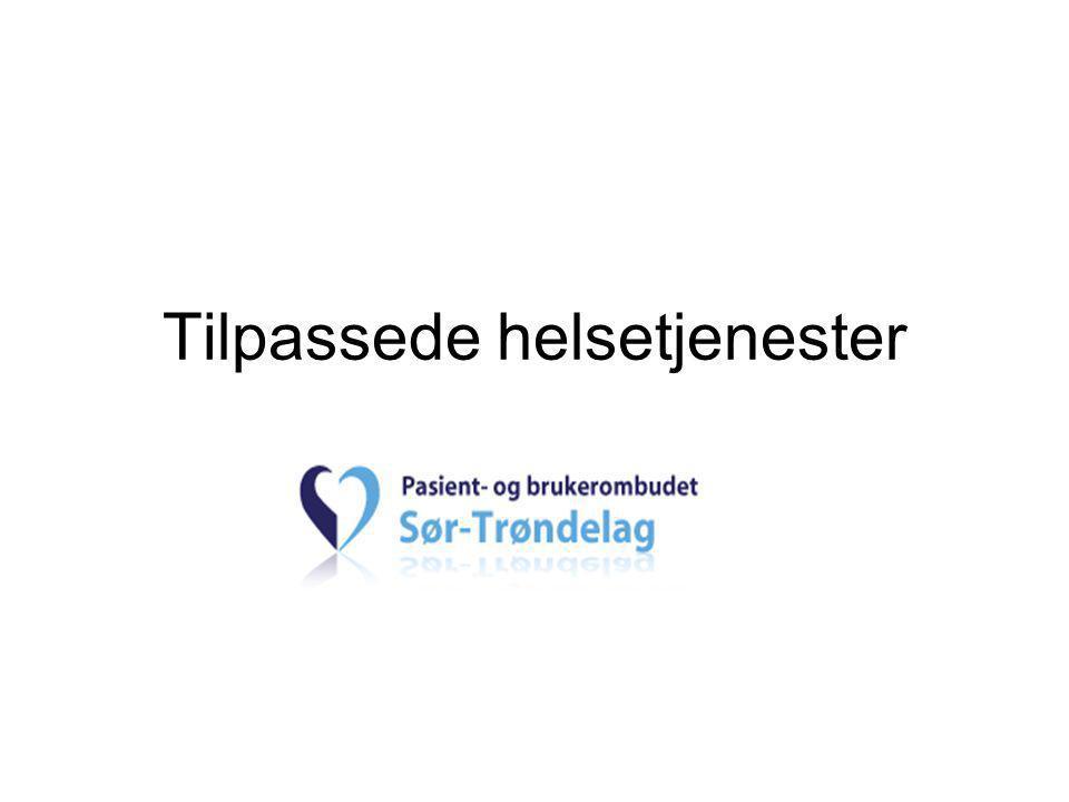 Om oss •4 ansatte: 2 jurister, 1 sykepleier og 1 sekretær •Kjøpmannsgata 61, Trondheim •Mandat pasientrettighetsloven § 8-1: -Ivareta pasientens og brukerens behov, interesser og rettsikkerhet -Bedre kvaliteten i tjenestene
